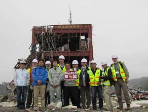 Group at Tsunami Site