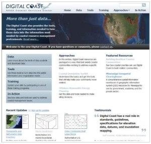 Digital Coast Website Snapshot