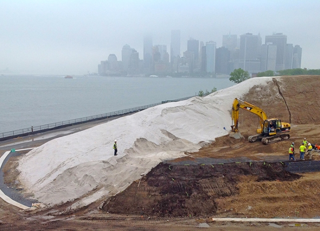 Governors Island hill